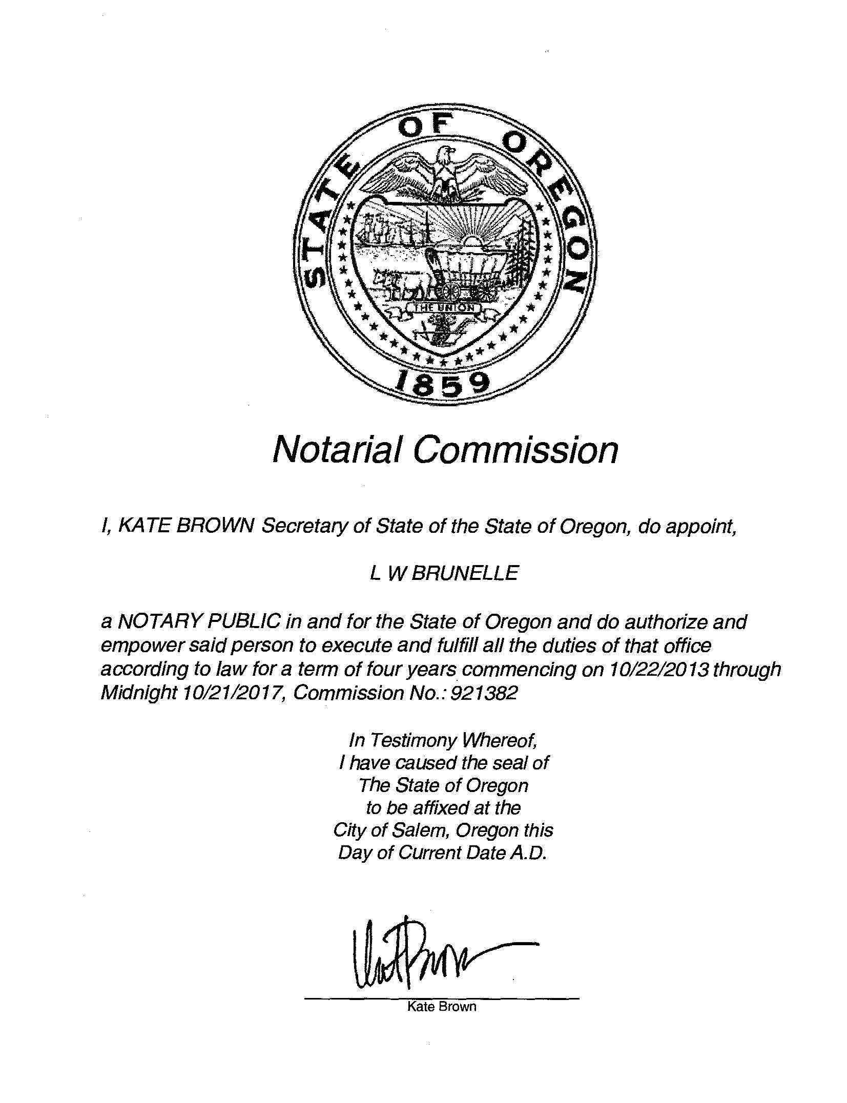 Lw Brunelle Enterprises Mobile Notary Services Interested In How To Become